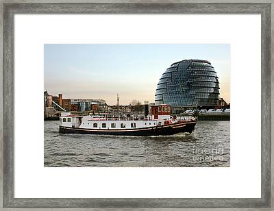 M.v. The Edwardian And City Hall London Framed Print by Terri Waters