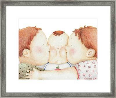 Mwah Framed Print