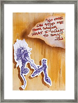 My 1st Amendment Right Begets A Piece Of This Kind Framed Print by Tai Taeoalii