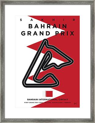 My 2017 Bahrain Grand Prix Minimal Poster Framed Print