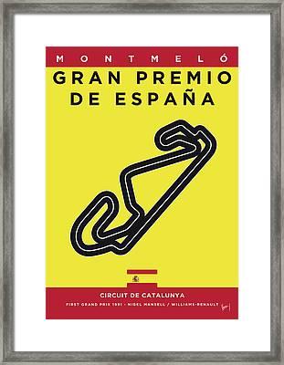 My 2017 Gran Premio De Espana Minimal Poster Framed Print