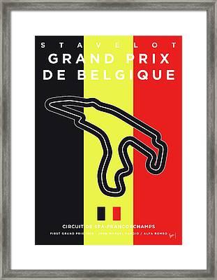 My 2017 Grand Prix De Belgique Minimal Poster Framed Print
