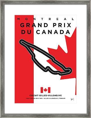 My 2017 Grand Prix De Canada Minimal Poster Framed Print