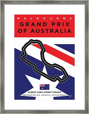 My 2017 Grand Prix Of Australia Minimal Poster Framed Print