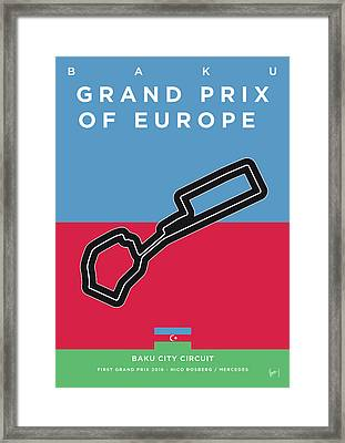 My 2017 Grand Prix Of Europe Minimal Poster Framed Print
