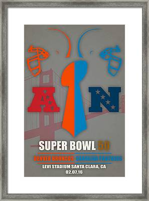 My 2nd Super Bowl Broncos Panthers Framed Print by Joe Hamilton
