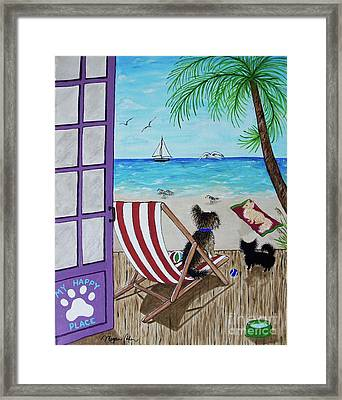 My 3 By The Sea Framed Print