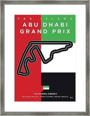 My Abu Dhabi Grand Prix Minimal Poster Framed Print