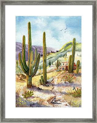 Framed Print featuring the painting My Adobe Hacienda by Marilyn Smith
