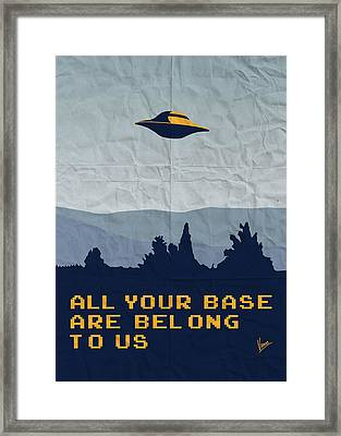 My All Your Base Are Belong To Us Meets X-files I Want To Believe Poster  Framed Print by Chungkong Art