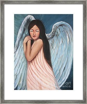 My Angel In Blue Framed Print