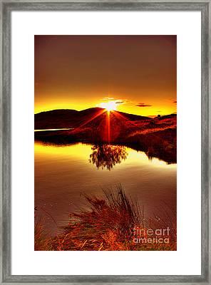 My Anniversary Sunset Framed Print by Kim Shatwell-Irishphotographer