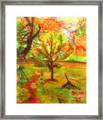 My Art Teacher's Crab Apple Tree Framed Print by Helena Bebirian