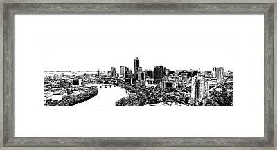 My Austin Skyline In Stamp Framed Print