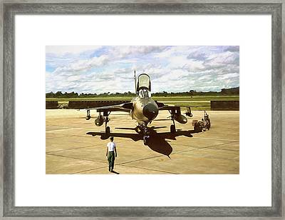 My Baby F-105 Framed Print by Peter Chilelli