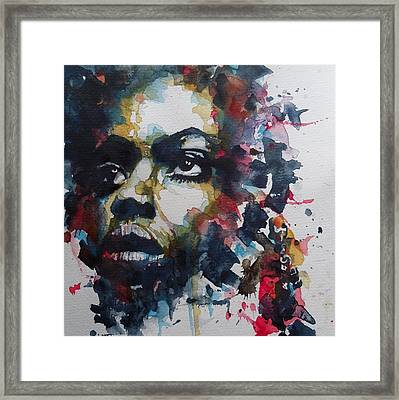 Framed Print featuring the painting My Baby Just Cares For Me  by Paul Lovering
