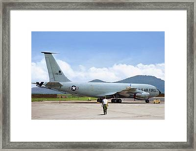 Framed Print featuring the digital art My Baby Kc-135 by Peter Chilelli