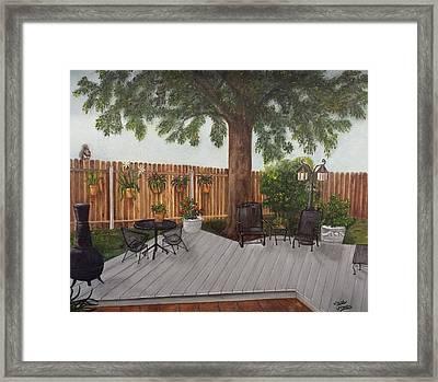 My Back Yard Framed Print