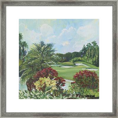 My Backyard Florida Acrylic Painting Art Framed Print