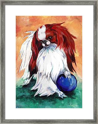 My Ball Framed Print by Kathleen Sepulveda