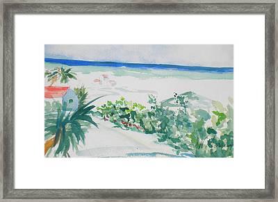 My Beach Cottage In Siesta Key Framed Print