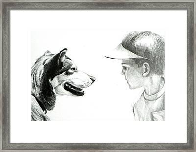 My Best Friend  Framed Print by David Ackerson