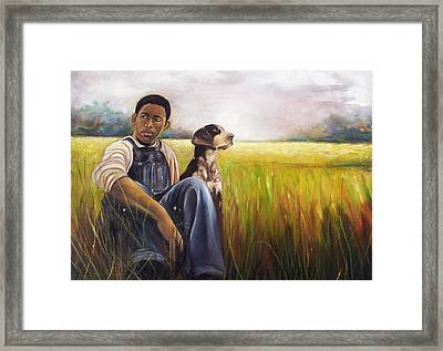 Framed Print featuring the painting My Best Friend by Emery Franklin