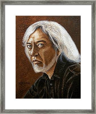Framed Print featuring the painting My Biggest Inspiration by Al  Molina