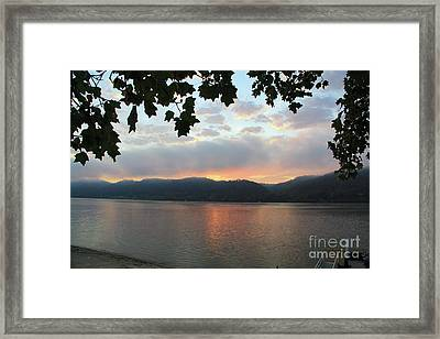 My Birthday Sunrise Framed Print