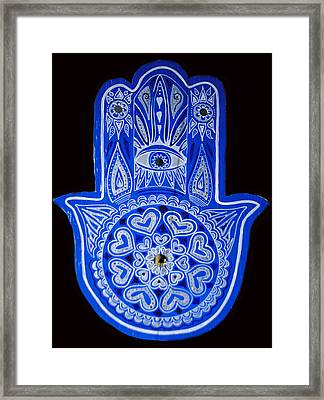 My Blue Hamsa Framed Print