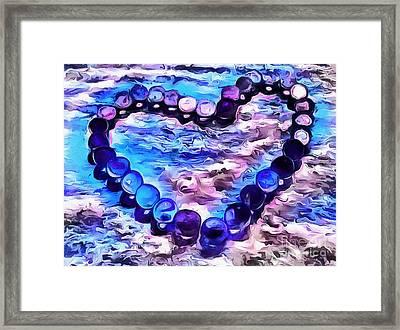 My Blue Heart Framed Print