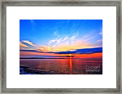Framed Print featuring the photograph My Blue Heaven by Baggieoldboy