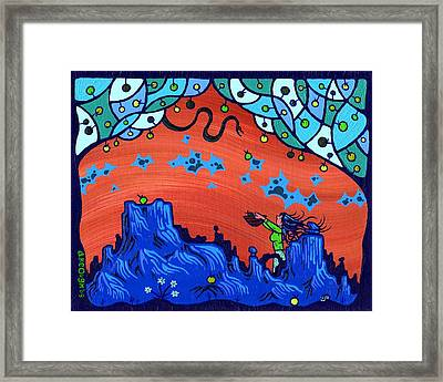 My Blue Heaven Framed Print by Dan Keough