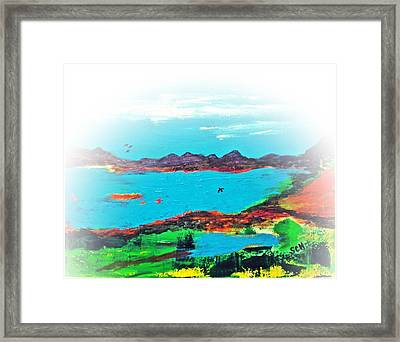 My Blue Heaven Number Three Framed Print