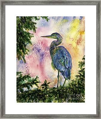 My Blue Heron Framed Print