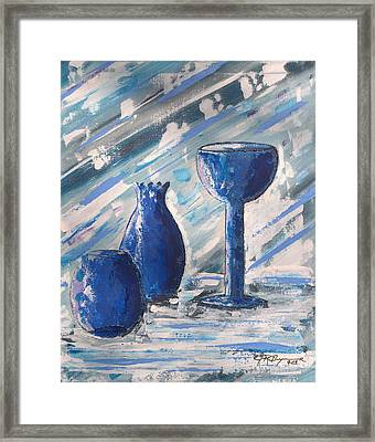 My Blue Vases Framed Print by J R Seymour