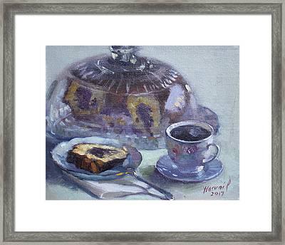 My Breakfast At Lida's Framed Print