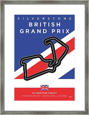 My British Grand Prix Minimal Poster Framed Print