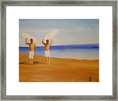 my brother and I Framed Print by Fred Reid