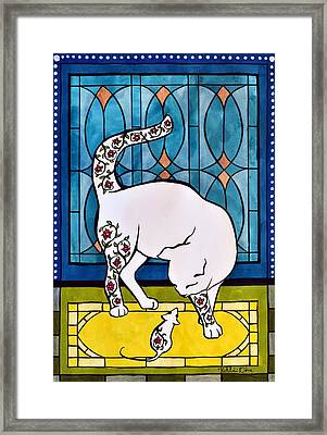 Framed Print featuring the painting My Brother From Another Mother by Dora Hathazi Mendes