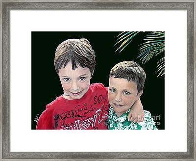 My Brother's My Pal Framed Print by Tobi Czumak