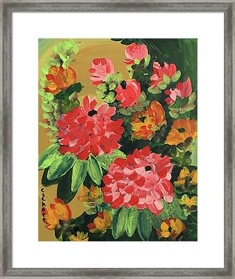 My Brush Sings In The Garden Framed Print