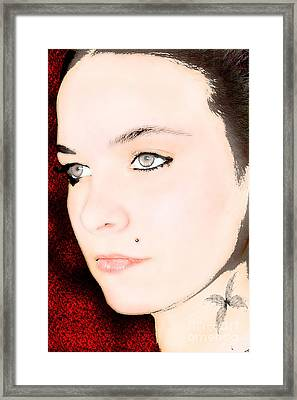 My Butterfly Framed Print by Tbone Oliver