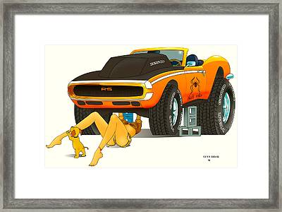 Framed Print featuring the painting My Camaro by Lynn Rider