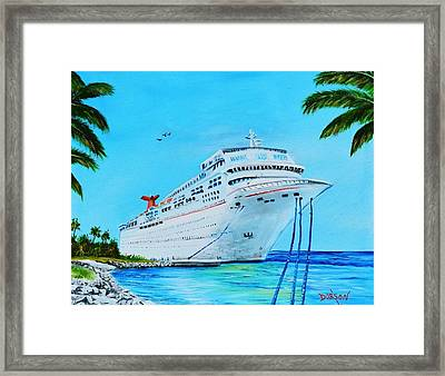 My Carnival Cruise Framed Print