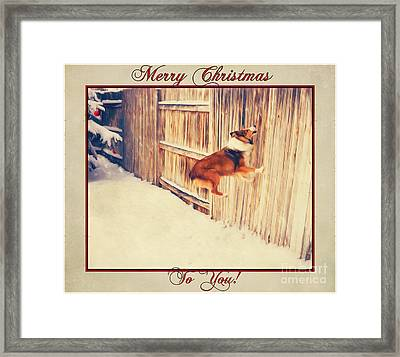 My Christmas Jumping Bean Framed Print