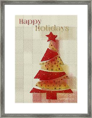 Framed Print featuring the digital art My Christmas Tree 02 - Happy Holidays by Aimelle