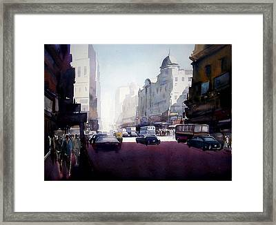 My City At Morning Framed Print by Samiran Sarkar