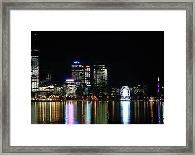 My City  Perth Framed Print by Kelly Jones