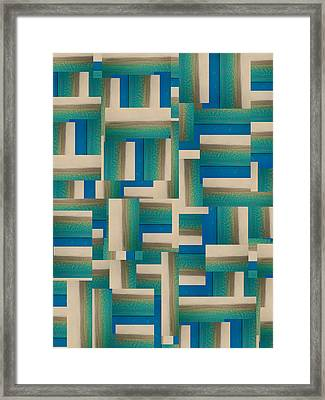 My Coastal Colors Harmony Inspire Your Home Framed Print